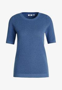 WE Fashion - MET STRUCTUUR - Basic T-shirt - navy blue - 5
