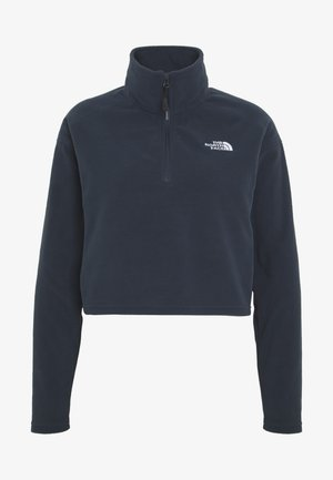 GLACIER CROPPED ZIP - Fleecegenser - urban navy