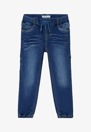 BAGGY FIT - Straight leg jeans - medium blue denim