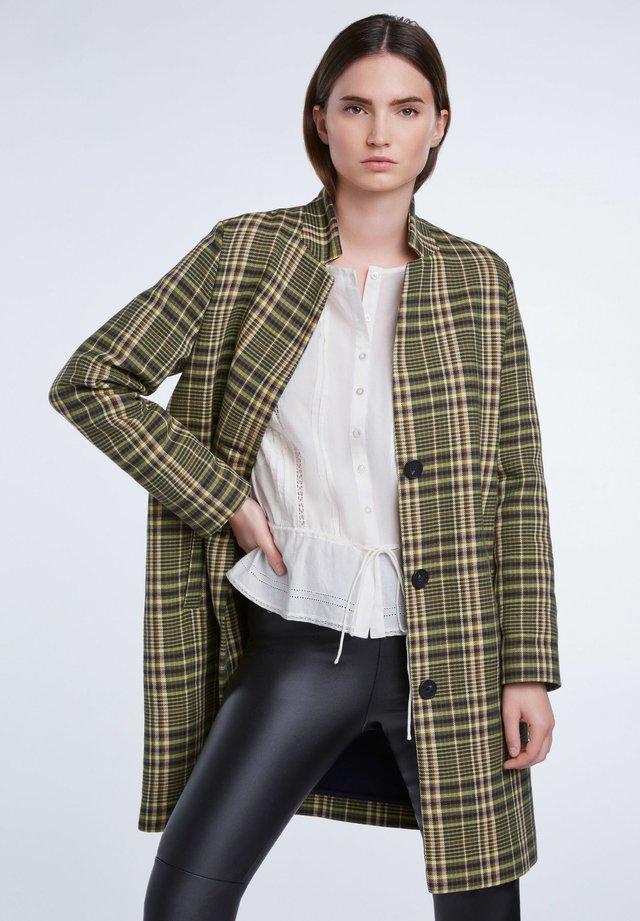 Classic coat - black green
