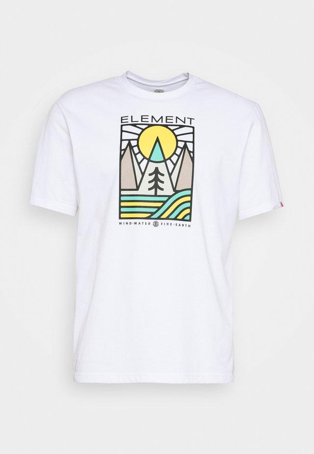 LOGEL - Camiseta estampada - optic white