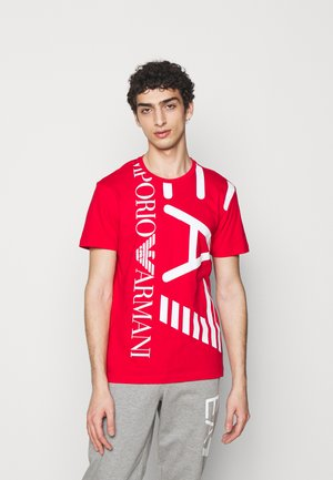 Print T-shirt - red/white