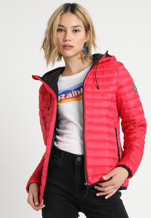 CORE DOWN HOODED JACKET - Down jacket - raspberry