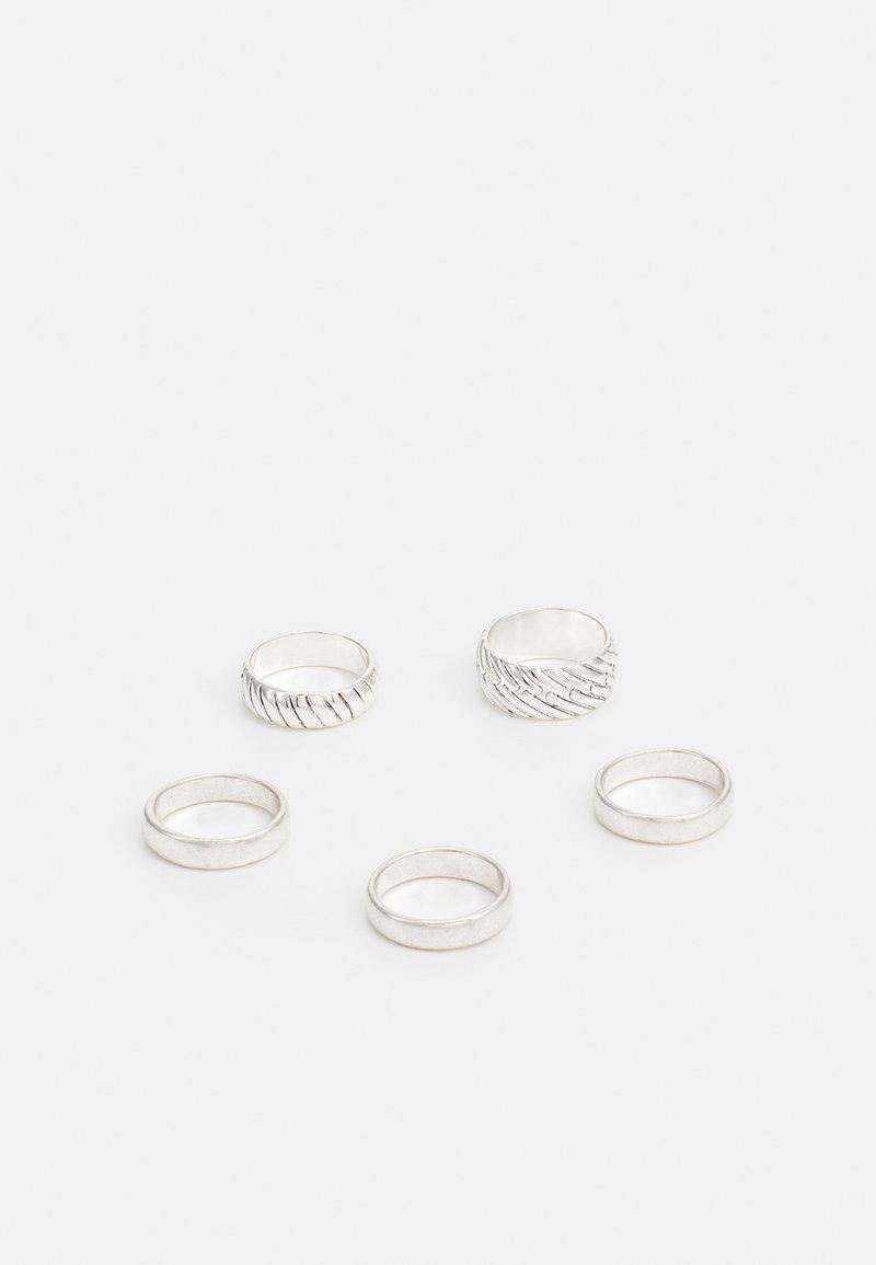Burton Menswear London - ENGRAVED 5 PACK - Ring - silver-coloured