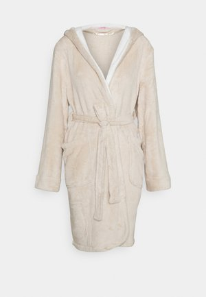ROBE SHORT HOOD - Dressing gown - oatmeal melee