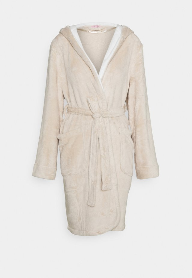 ROBE SHORT HOOD - Bademantel - oatmeal melee