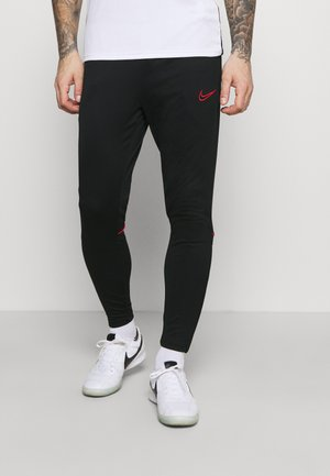 PANT - Jogginghose - black/siren red