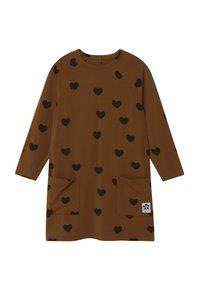 Mini Rodini - HEARTS - Jersey dress - brown - 0