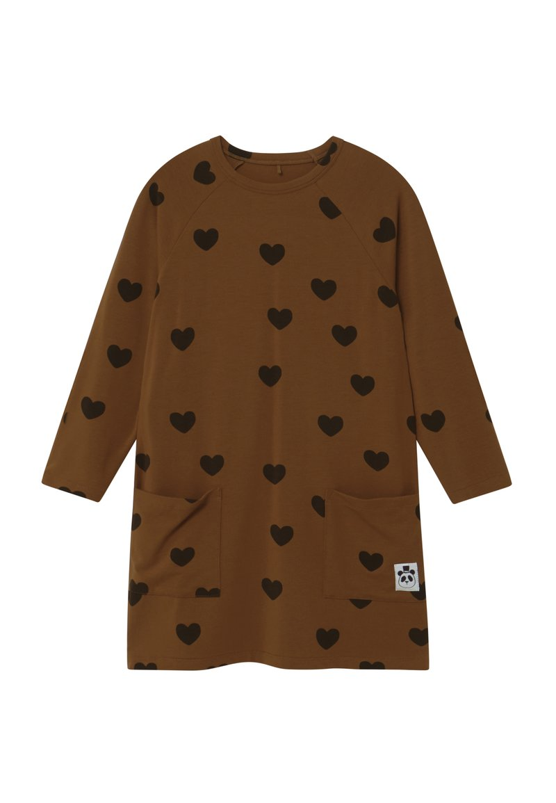 Mini Rodini - HEARTS - Jersey dress - brown