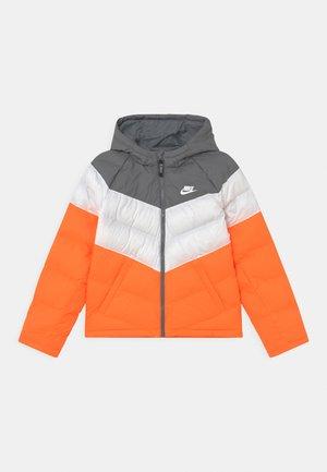SYNTHETIC FILL UNISEX - Winterjas - smoke grey/white/total orange