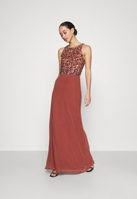 Lace & Beads - AURELIA MAXI - Vestido de fiesta - burnt orange - 0