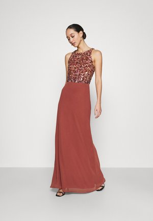 AURELIA MAXI - Vestido de fiesta - burnt orange