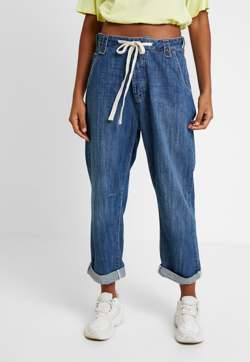 One Teaspoon - RODEO SAFARI HIGH WAIST RELAXED - Jeans Relaxed Fit - rodeo blue
