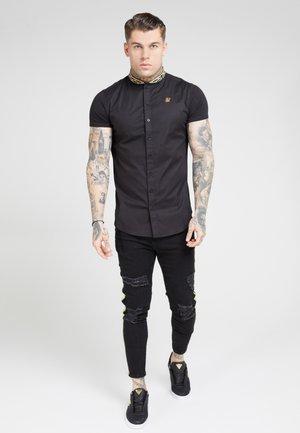 TAPE COLLAR SHIRT - Shirt - black/gold