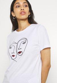 ONLY - ONLKITA LIFE  - Print T-shirt - bright white - 3
