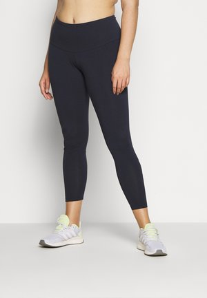 ESSENTIALS TRAINING SPORTS LEGGINGS - Leggings - dark blue/pink