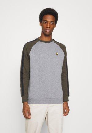 COLOUR BLOCK CREW - Sweatshirt - mid grey marl