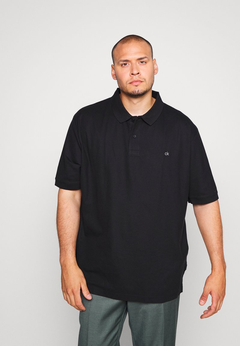 Calvin Klein - REFINED LOGO SLIM - Polo - black