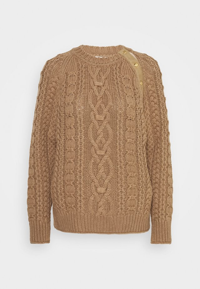 CABLE KNIT JUMPER - Maglione - caramel