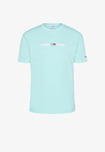 LINEAR LOGO TEE - T-shirt med print - aqua coast