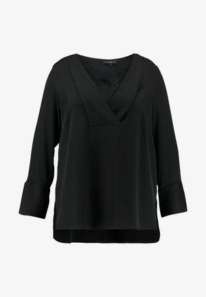 TRIM BLOUSE - Blouse - black