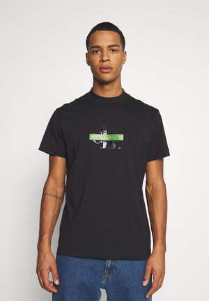CENSORED TEE - T-shirt med print - black