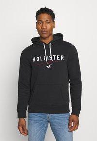Hollister Co. - TECH LOGO - Sweatshirt - black - 0