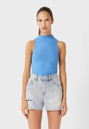 MIT RISSEN  - Denim shorts - Blue