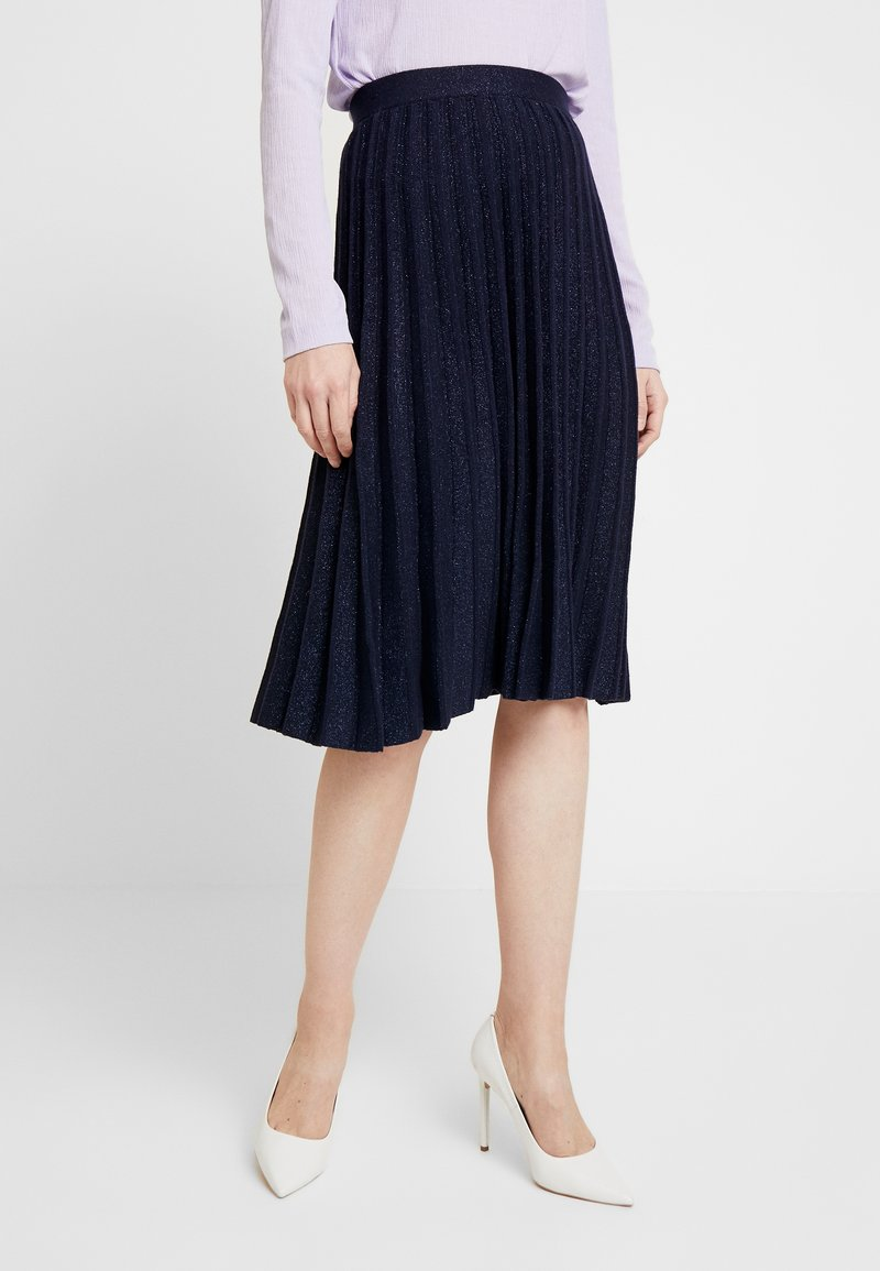 White Stuff - STEM SHIMMER SKIRT - Jupe trapèze - navy