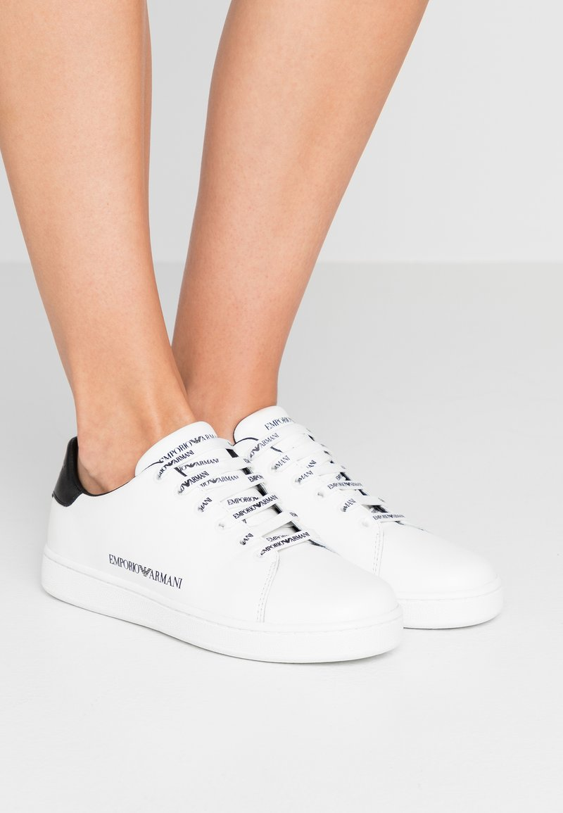 Emporio Armani - Trainers - white/black
