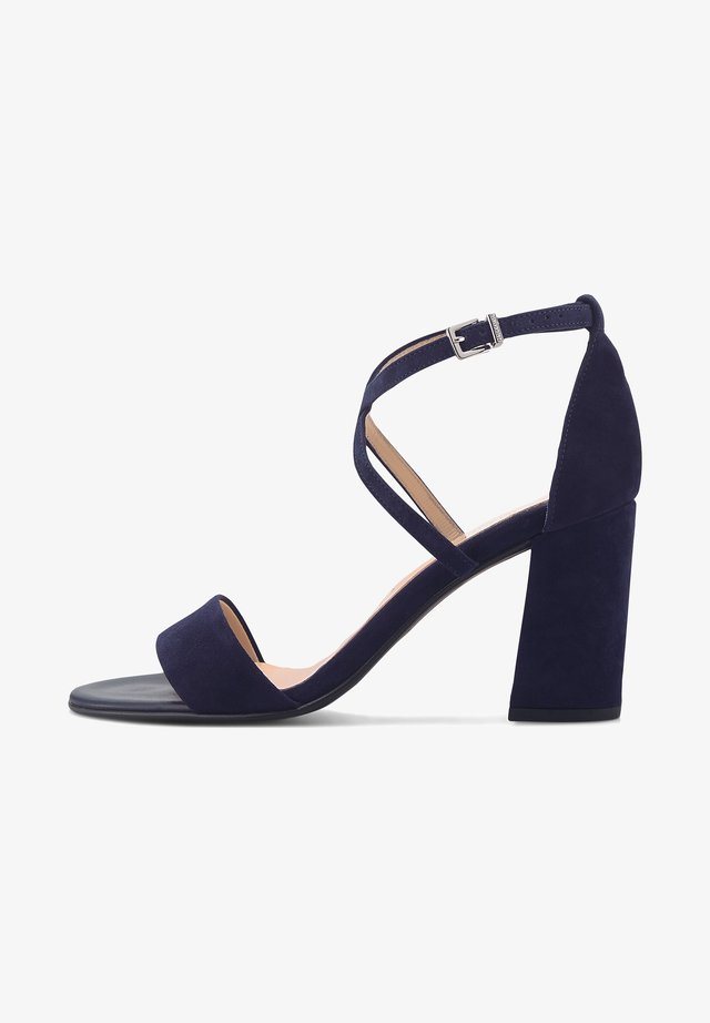 ALECIA - High heeled sandals - dunkelblau