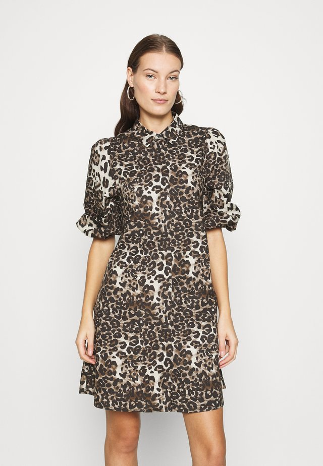 TAIMI - Shirt dress - beige/black