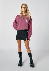 PULL&BEAR - Mini skirt - mottled dark grey - 1
