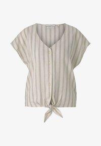 TOM TAILOR DENIM - Blouse - brown beige stripe - 4