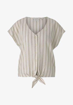 Blusa - brown beige stripe