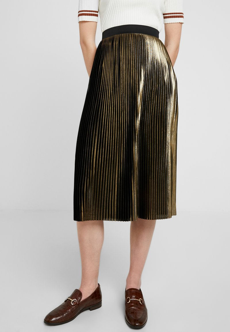 Dorothy Perkins - PLEATED SKIRT - A-linjainen hame - gold