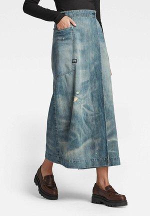 A-LINE MAXI WRAP - Wrap skirt - blue