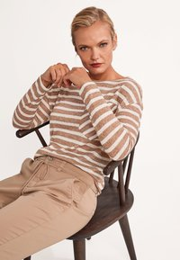 comma casual identity - Long sleeved top - brown stripes - 5