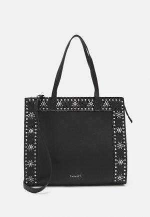 FLOWER STUDS BAGS - Shopping bag - nero