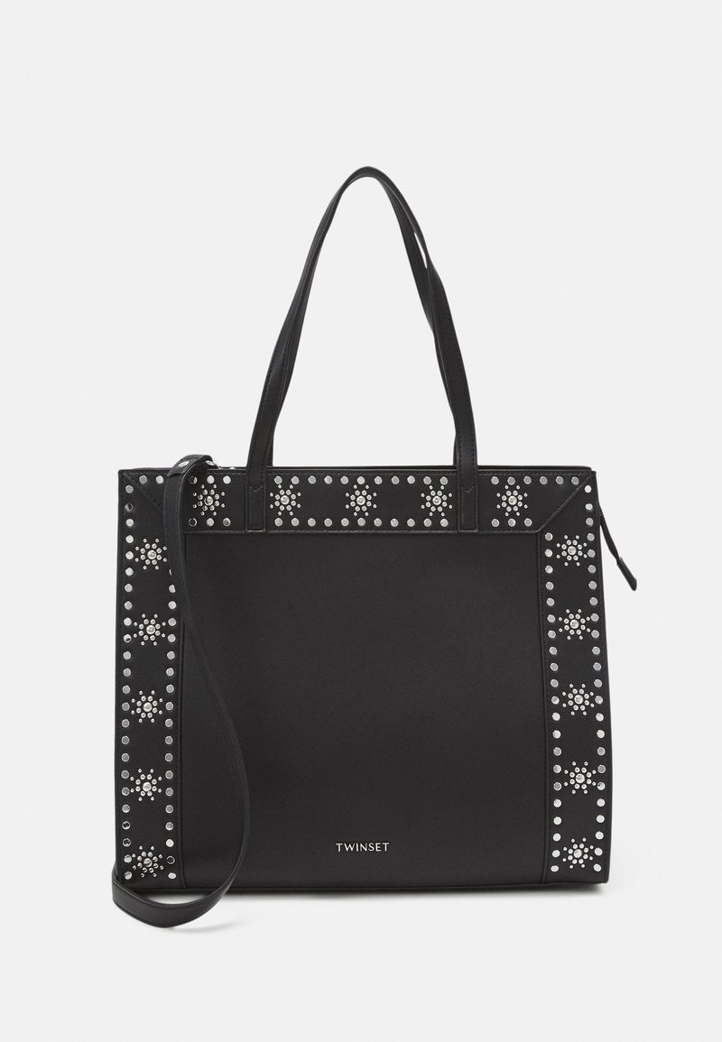 TWINSET - FLOWER STUDS BAGS - Shopping bag - nero