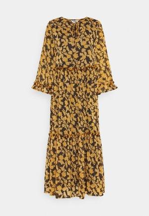 OBJSILJE DRESS - Sukienka letnia - black/honey ginger