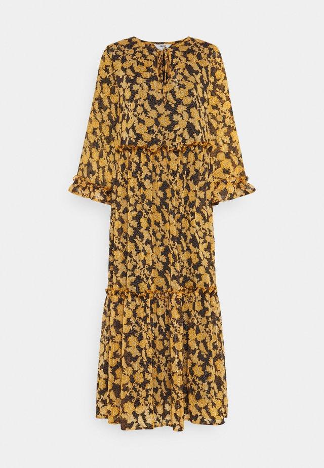 OBJSILJE DRESS - Vapaa-ajan mekko - black/honey ginger