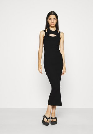 SLASH DRESS - Robe fourreau - black