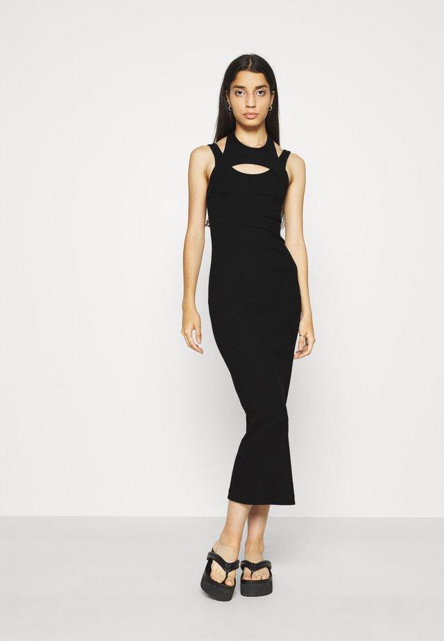 SLASH DRESS - Shift dress - black