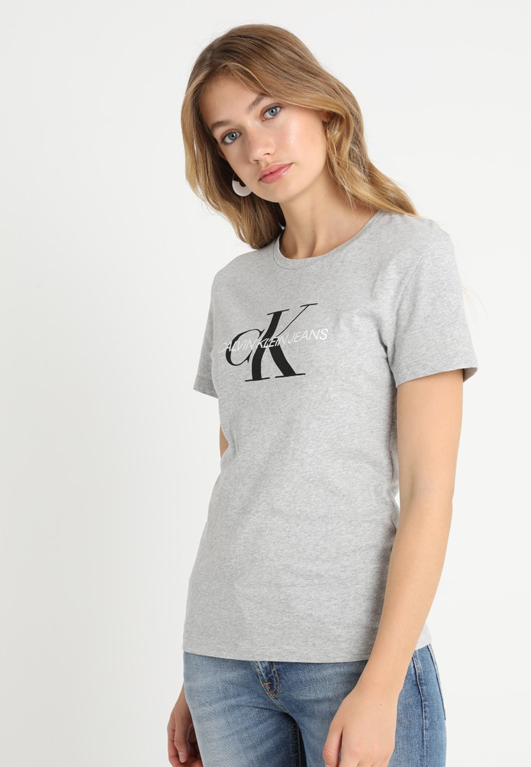 Calvin Klein Jeans - CORE MONOGRAM LOGO - Triko s potiskem - light grey heather