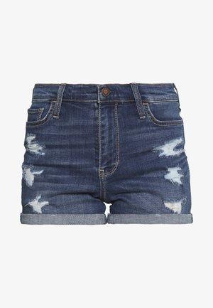 DARK DEST ROLL - Denim shorts - dark denim