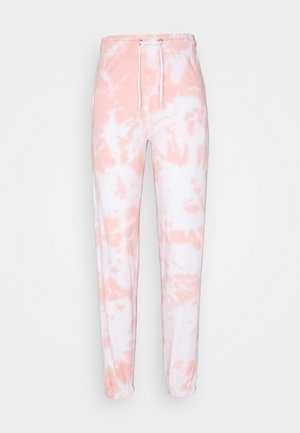 TIE DYE JOGGERS - Tracksuit bottoms - mid pink