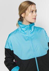Nike Performance - NBA MIAMI HEAT CITY EDITION WOMENS SNAP JACKET - Training jacket - blue gale /black /laser fuchsia - 4