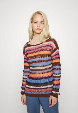 LONG SLEEVE CREW NECK - Stickad tröja - multicolor