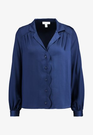 PLAIN SCALLOP - Button-down blouse - navy